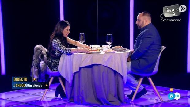 Maite Galdeano y Julio Ruz cenan en «GH Dúo»