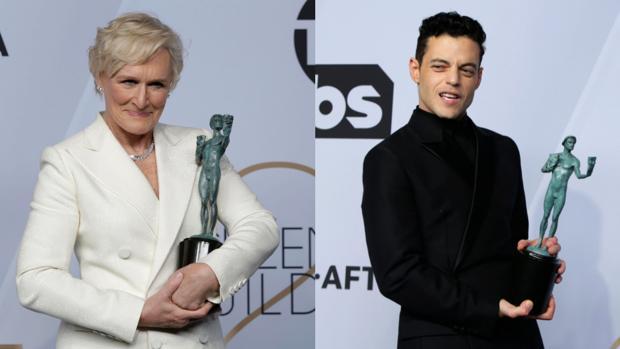Glenn Close y Rami Malek, directos hacia el Oscar tras los premios del Sindicato de Actores