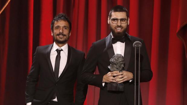 Carles Bover Martínez y Julio Pérez del Campo, en los premios Goya