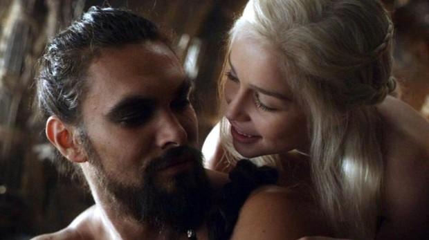 Khal Drogo y Daenerys Targaryen en «Juego de tronos»