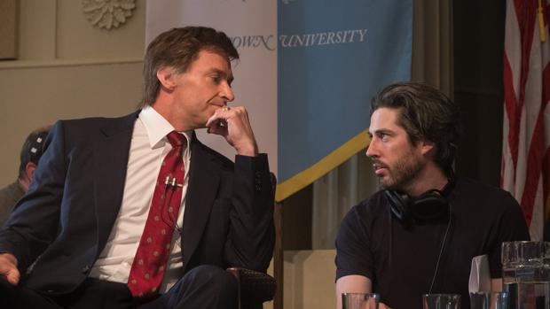 Hugh Jackman, durante el rodaje de El candidato