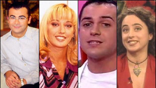 Jorge Javier Vázquez, Belén Esteban, Víctor Sandoval y María Patiño, en sus comienzos en la pequeña pantalla