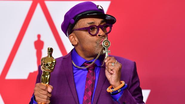 Spike Lee, en la fiesta posterior a ganar el Oscar