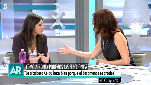 Irene Montero y Ana Rosa Quintana, en «El programa de Ana Rosa»