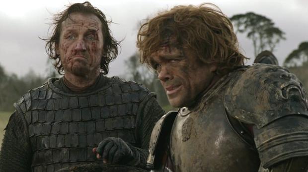 Bronn (Jerome Flynn) y Tyrion Lannister (Peter Dinklage) en «Juego de Tronos»