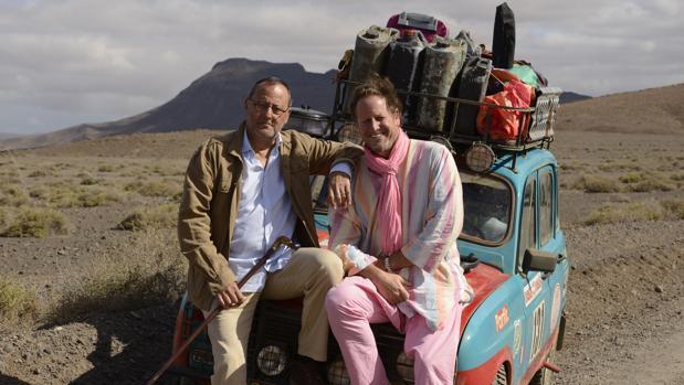 Jean Reno y Gerardo Olivares, protagonista y director de 4 latas