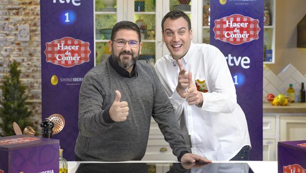 El chef Dani García, con su pinche Antonio Romero («MasterChef 3»)