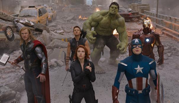 Algunos de los Vengadores en «La era de Ultrón»