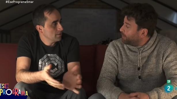 Borja Pérez y Joseba Caballero, en «Ese programa del que usted me habla»