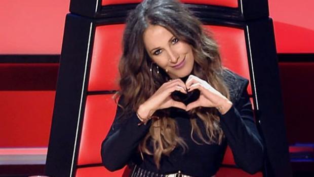 La cantante Malú, durante su paso por «La Voz»