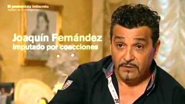 Joaquín Fernandez durante la entrevista que le concedió a «Equipo de Investegación»