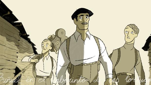 Un fotograma de «Buñuel en el laberinto de las tortugas»