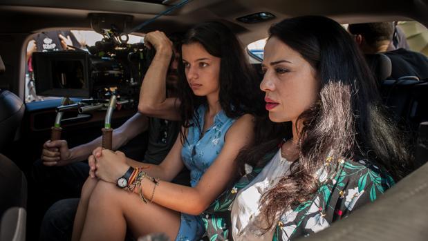 Sofía Oria y Yolanda Torosio, en el rodaje de «Gigantes»