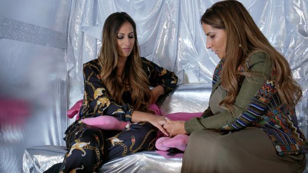 Noemí y Raquel Salazar, este viernes en «Los Gipsy Kings»