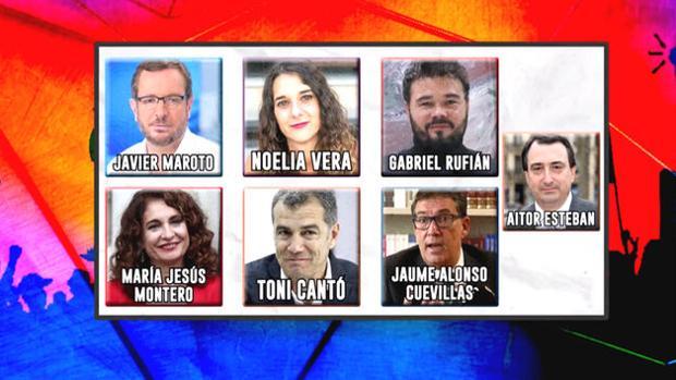 Los seis representantes políticos que participarán en el «Debate de verdad»