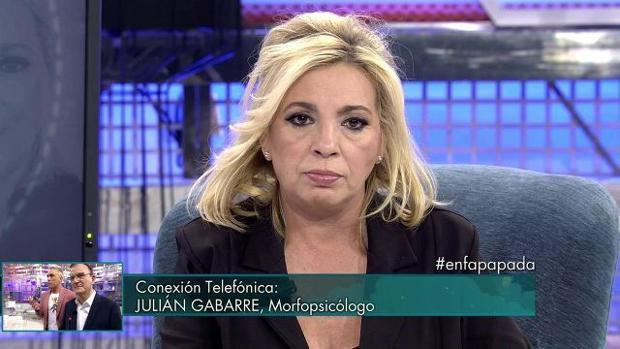Carmen Borrego (Sálvame), en una de sus últimas apariciones en «Sábado Deluxe»