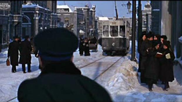 Fotograma de Doctor Zhivago rodado en las calles de Madrid