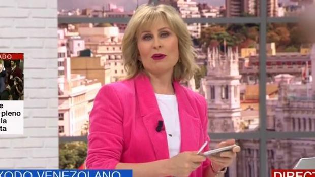 María Rey, presentadora de «120 minutos»