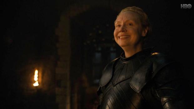 Brienne de Tarth (Gwendoline Christie), en el segundo capítulo de la octava temporada de «Juego de Tronos»