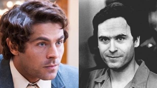 A la izquiera, Zac Efron en su papel de Ted Bundy y, a la derecha, una foto del propio Bundy