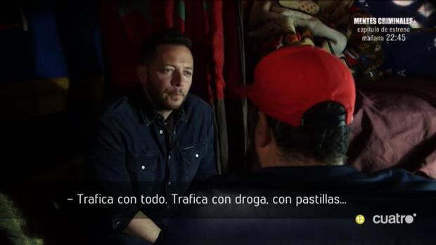 El reportero Boro Barber durante la entrevista al «Pablo Escobar marroquí»
