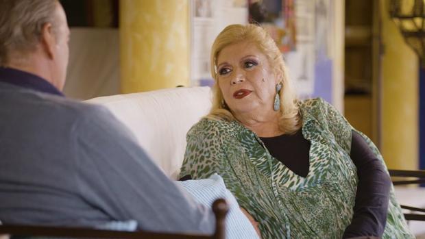 La cantante María Jiménez durante su entrevista en «Mi casa es la tuya»