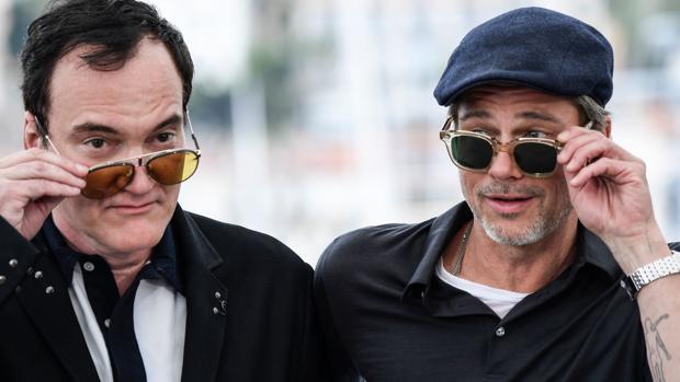 Tarantino, con Brad Pitt, en el festival de Cannes antes de estrenar «Érase una vez en Hollywood»