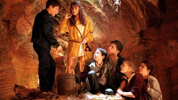 Una de las escenas de «Los Goonies»