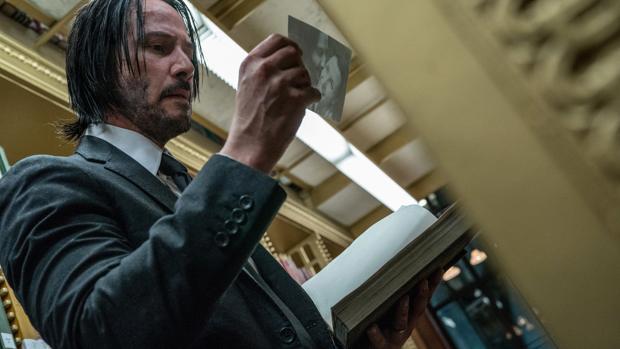 Escena de John Wick: Capítulo 3 Parabellum con Keanu Reeves