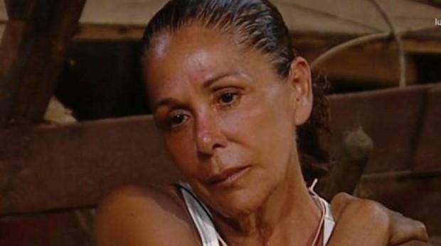Isabel Pantoja, durante la emisión de Supervivientes