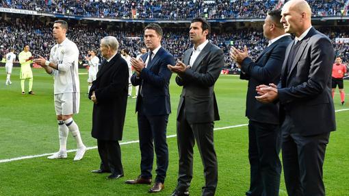 Kopa, junto a Cristiano Ronaldo