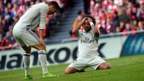 Cristiano y Marcelo, en un partido de La Liga