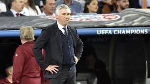 Ancelotti., en el banquillo del Bernabéu