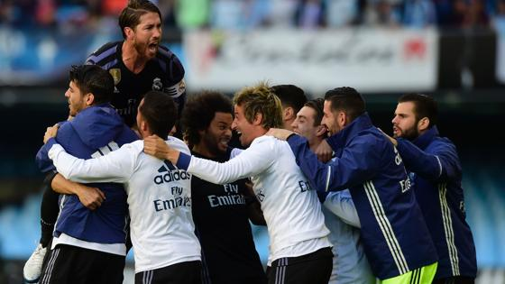 Así ha celebrado el madrid el gol de Cristiano