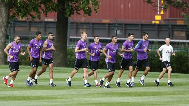 Some players of the Madrid during the pre-season of last summer