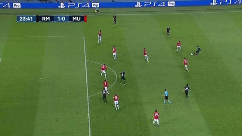 Posici n pol mica de casemiro en la jugada del gol for Fuera de juego real madrid