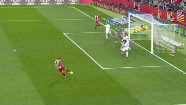 Gerona real madrid hubo fuera de juego en el gol de portu for Fuera de juego real madrid