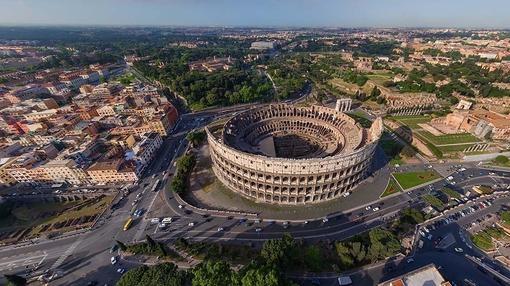 Imagen aérea del Coliseo