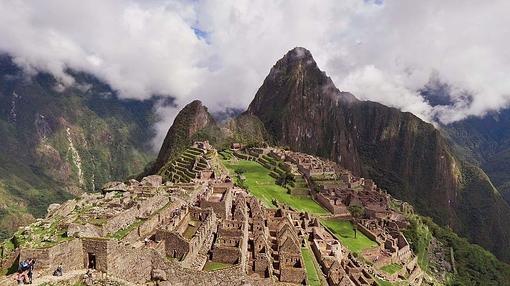 Imagen aérea de Machu Picchu
