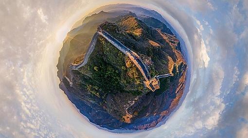Imagen aérea de la Gran Muralla China
