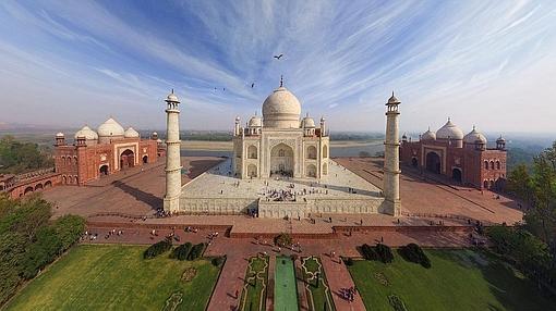 Imagen aérea del Taj Mahal