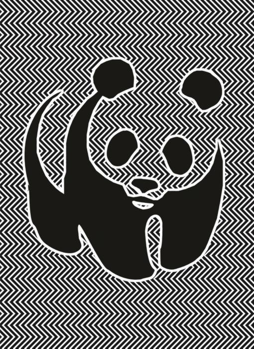 Un panda en la imagen oculta
