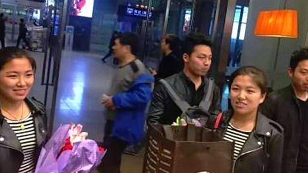 Imagen de los gemelos difundida por Chinanews.com
