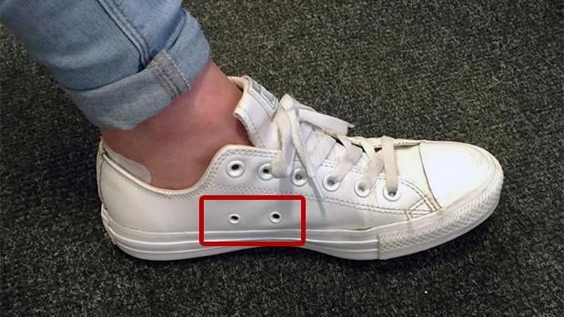 El asombroso motivo por el que tus zapatillas tienen agujeros laterales 1c40ae761dc72