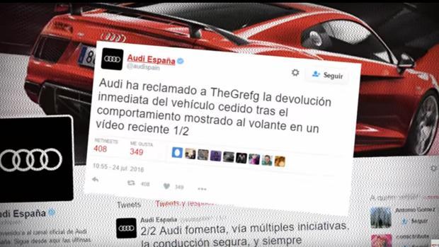 Audi Obliga A Un Youtuber A Devolver Un Coche Prestado Por