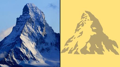 Monte Cervino y Logo Toblerone