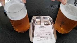 El «sablazo» por dos cervezas en un bar de San Sebastián