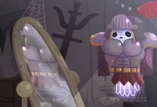 escena del vdeo del doodle de google para halloween