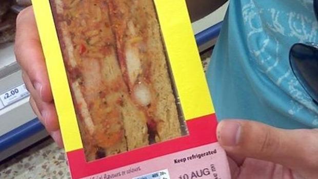 Sándwich de paella