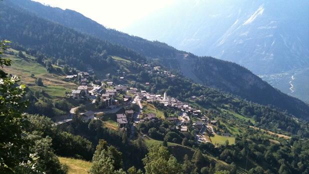 Paraje en medio de los Alpes